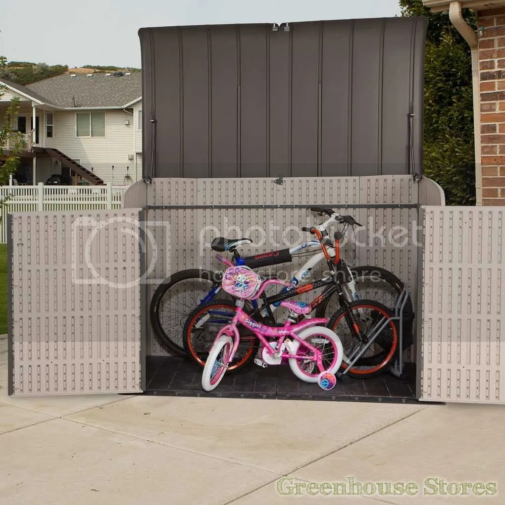 lifetime 6x3.5 storage bikes