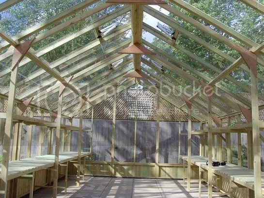 Swallow falcon greenhouse interior