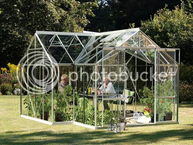 Vitavia sirius greenhouse orangery in silver