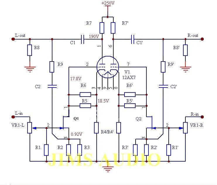 Jfet Input 12ax7 Hybrid Tube Stereo Pre Amplifier Bare