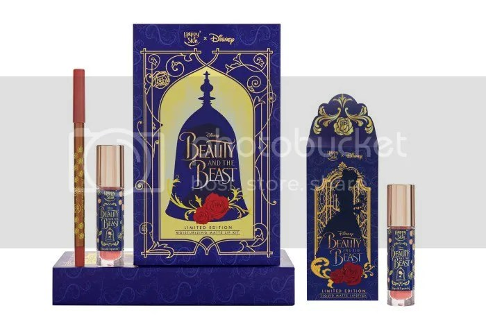 Happy Skin X Disney Beauty And The Beast Moisturizing Matte Lip Kit Limited Edition