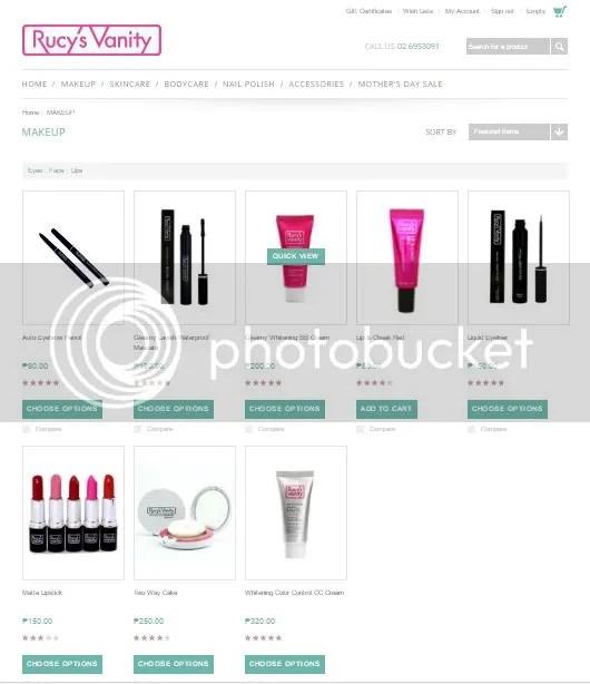 Rucy's Vanity online store