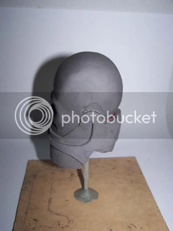 sculpture head side