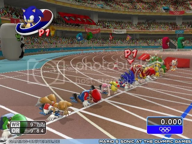 Mario and Sonic - starting line