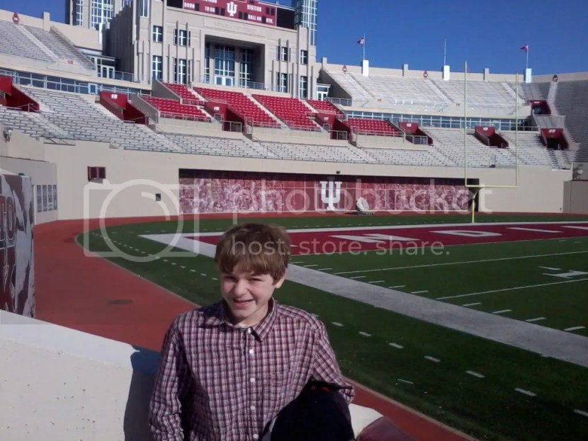 Aiden at The Rock, Memorial Stadium in Bloomington Indiana