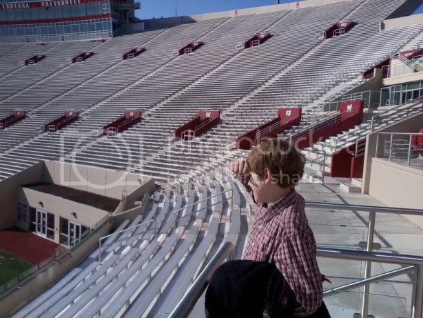 Checking out Memorial Stadium at Indiana University