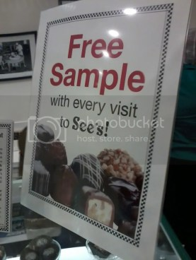 Free samples at See's Candies!