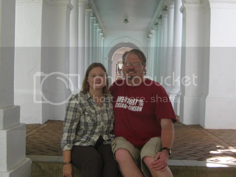 Me & Christy at the Rotunda at the University of Virginia