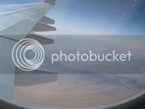 Flying over Egypt
