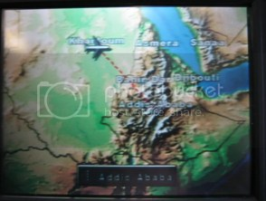 The flight tracker confirmed that yes, we were in fact going to Addis Ababa.