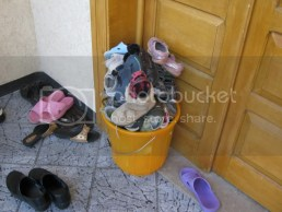For the health & safety of the children, everyone had to remove their shoes and put on slippers. Thats a lot of shoes!