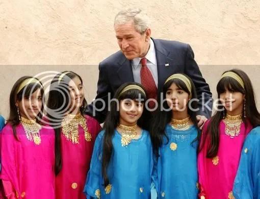 Bush w/ Emirate Children