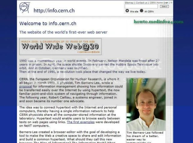 The Worlds First Website By Tim Berners-Lee