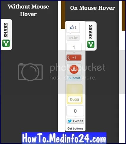 Slide Out Social With jQuery For Blogger