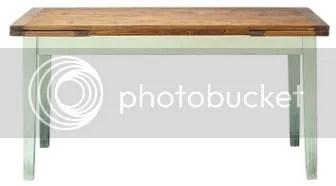 Holztische mit weiß lackierten Beinen diemoebelbloggerin