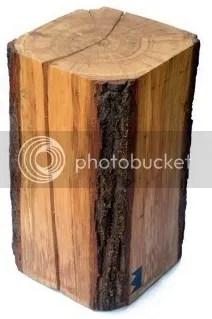Baumstamm Tisch kaufen Eiche runde Ecken Kanten Sitz Design