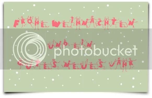 Weihnachtskarte Grußkarte Blog Text grün rot Schneeflocken Silvesterglückwunsch neues Jahr guterRutsch