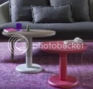 beistelltisch italienisches design möbel runde tischplatte bodenplatte säulenfuß kunststoff