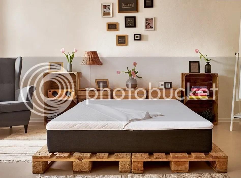 palettenbett und dazu passende matratze