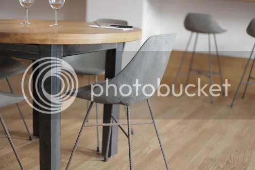 stuhl aus beton schalenstuhl im stil moderner designklassiker midcentury modern 50er 60er jahre eames