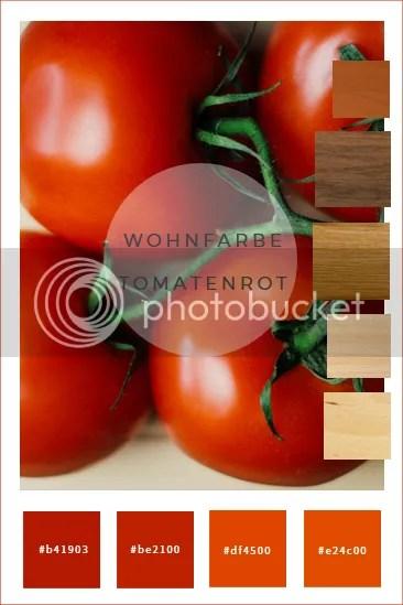 wohnfarben wandfarbe tomatenrot farbkombination gestaltungstipps farbkonzepte fußboden holzmöbel buche kirsche eiche nussbaum kiefer was passt zusammen wohnzimmer kinderzimmer jugendzimmer schlafzimmer diele flur küche bad streichen