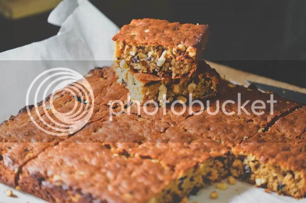 Flourless Peanut Butter & Cacao Nib Blondies