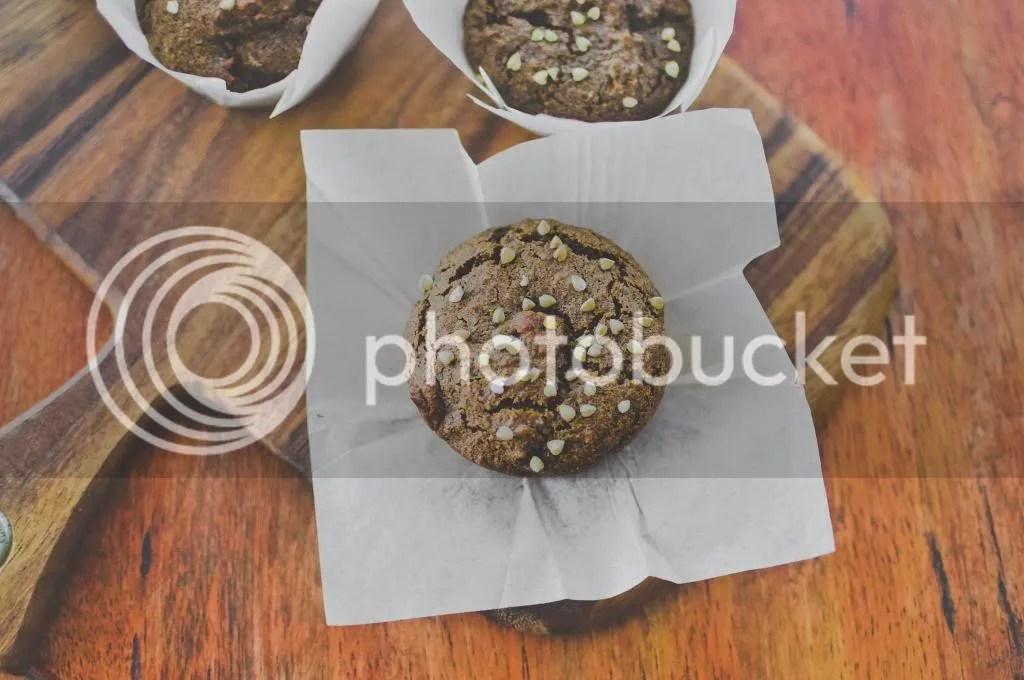 Chocolate Honey Buckwheat Muffins