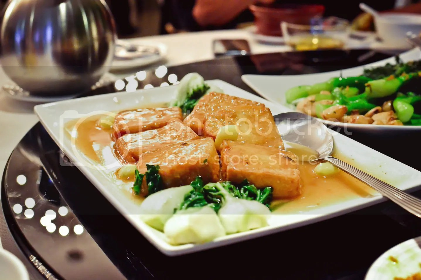 Homemade Fragrant Tofu with Chinese Cabbage & Gingko Nuts