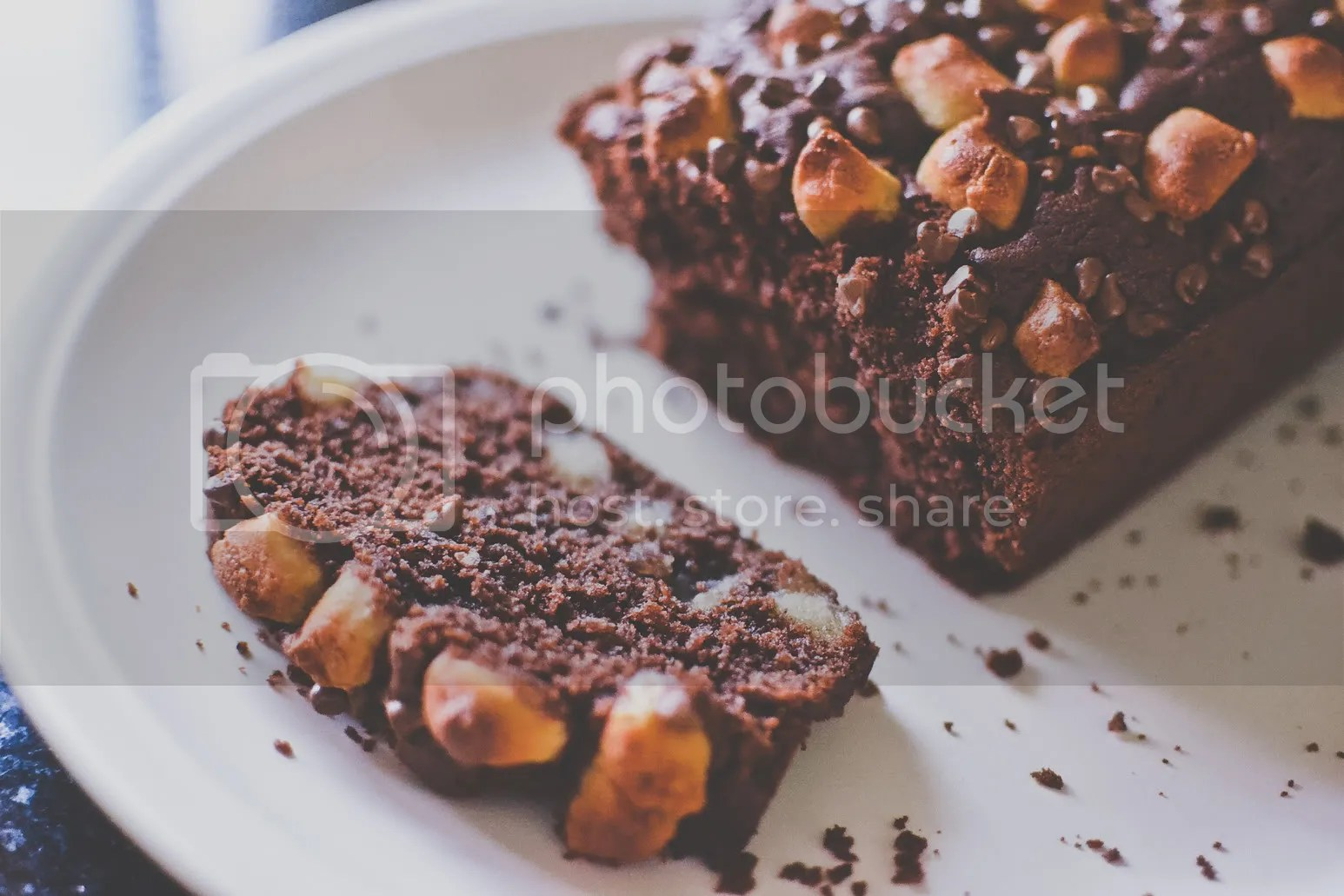 Chocolate Chip Marzipan Loaf