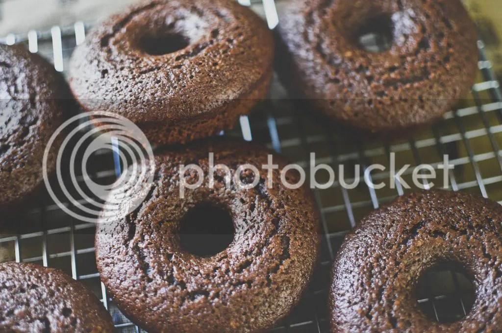 Chocolate & Honey Cake Donuts