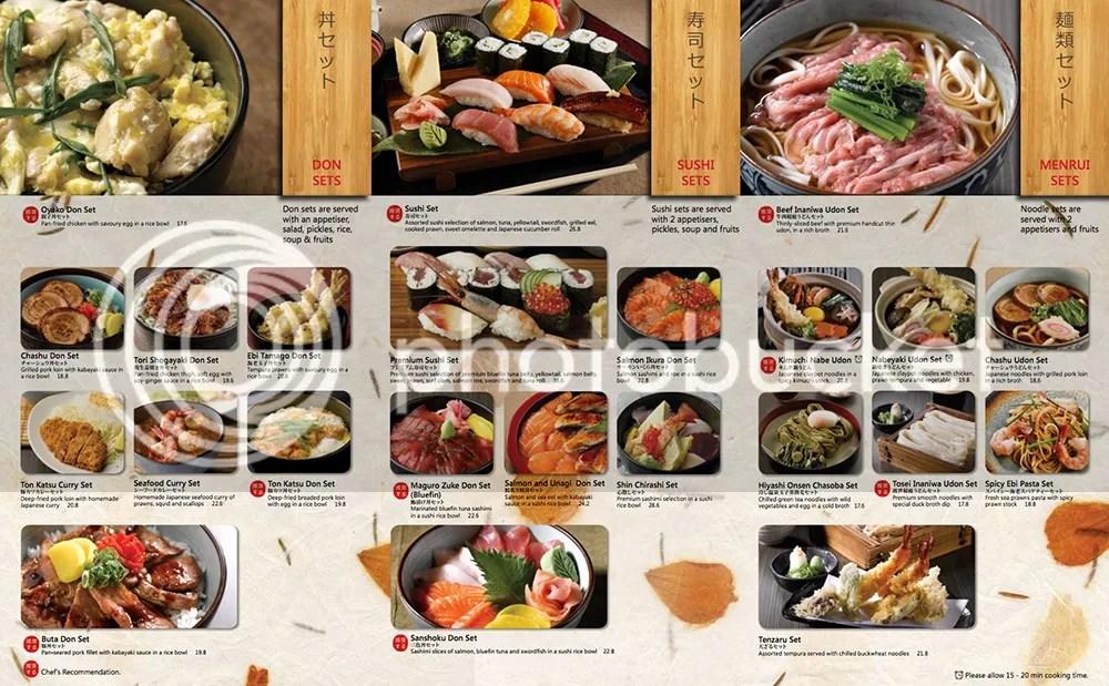 Shin Kushiya Set Lunch Menu