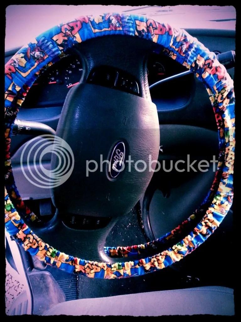 steering wheel cover DIY Tutorial