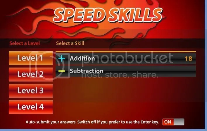 Speed Skills Math Facts