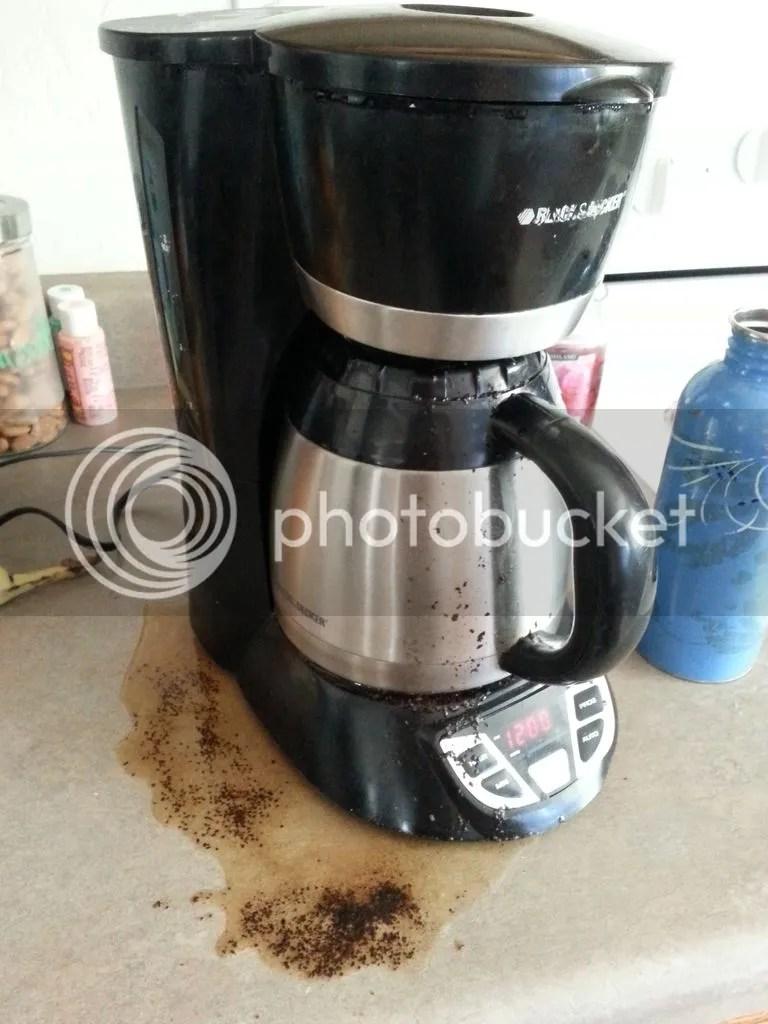 Coffee overflow!