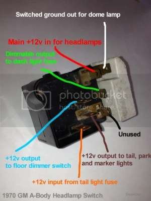 Helpful Headlight Switch Info  Chevelle Tech