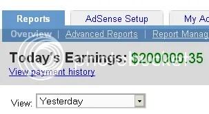 fake ad sense earning