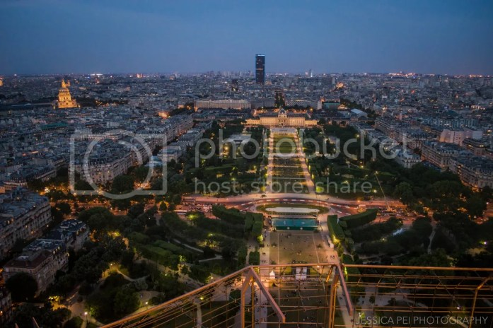 Champ de Mars Paris night Eiffel Tower
