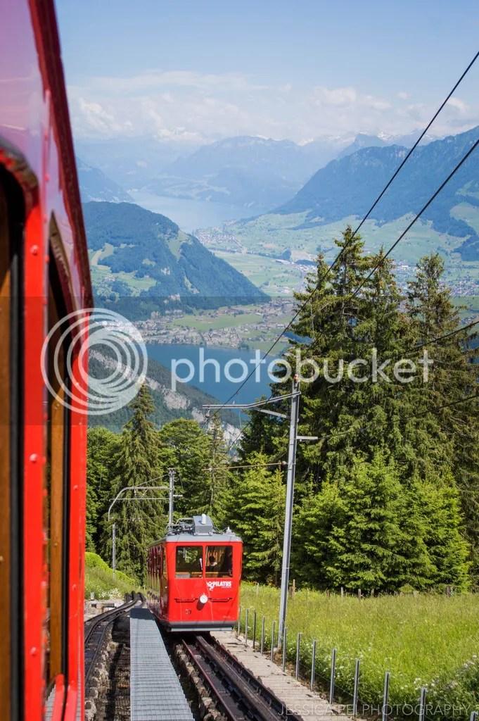Pilatus train up Swiss Alps