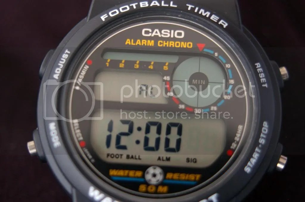 Casio TRW10 football timer