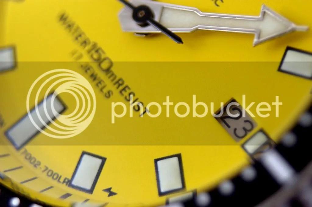 Seiko diver 7002 mod amarillo