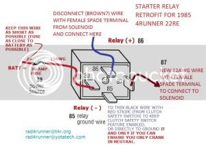 How to wire Painless Starter Relay 85 4runner  Toyota 4Runner Forum  Largest 4Runner Forum