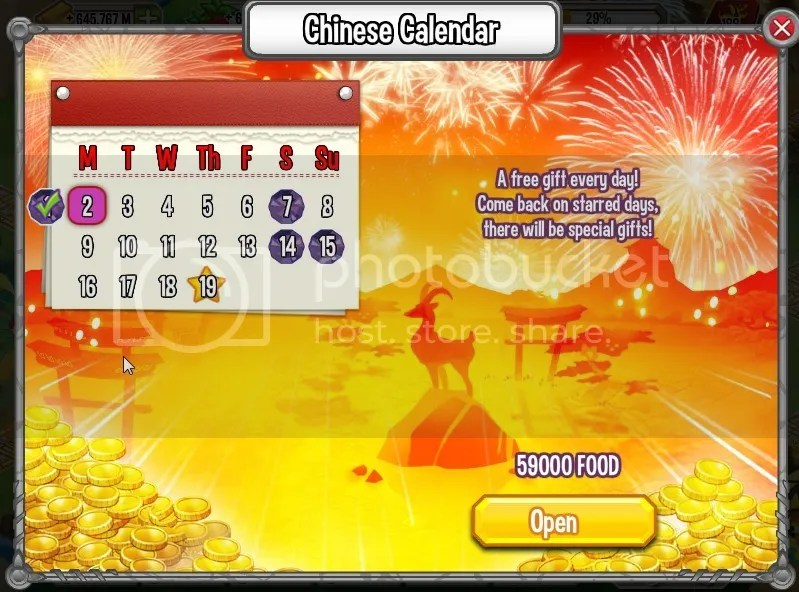 Chinese Calender | Dragon City