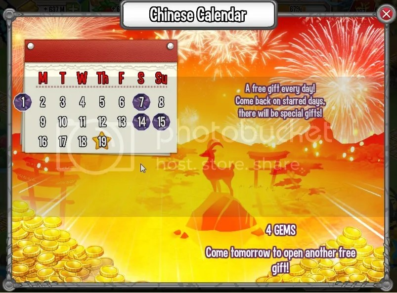 GIft Calender | Dragon City