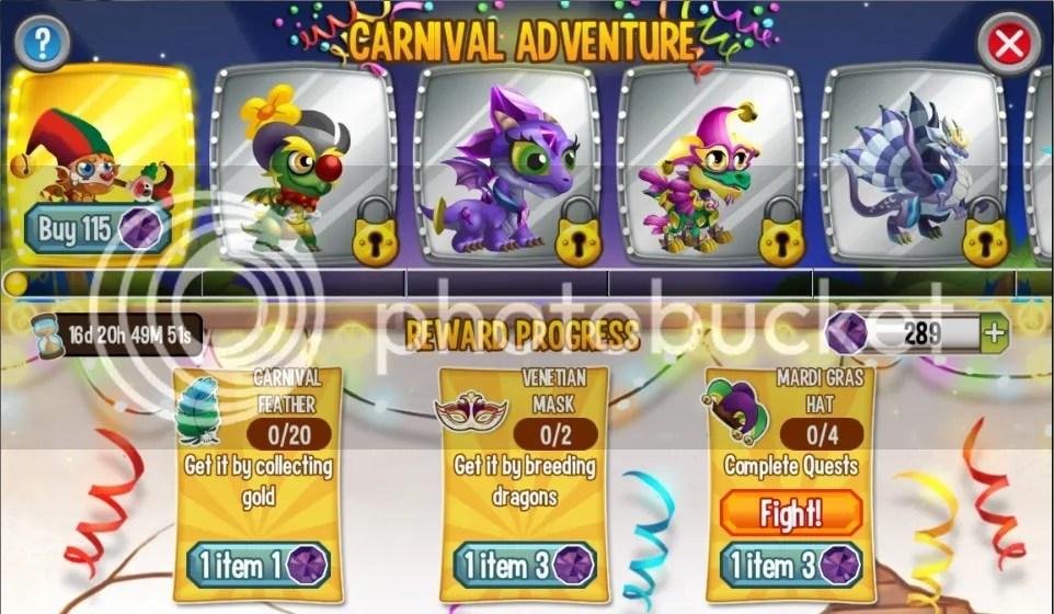 dragons in carnival adventure