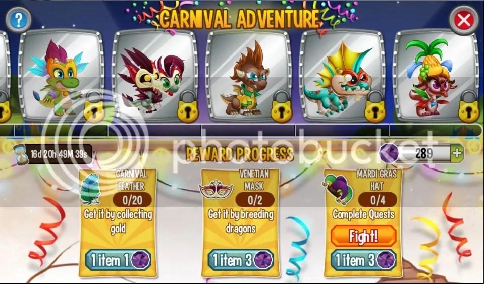 carnival adventure dragons
