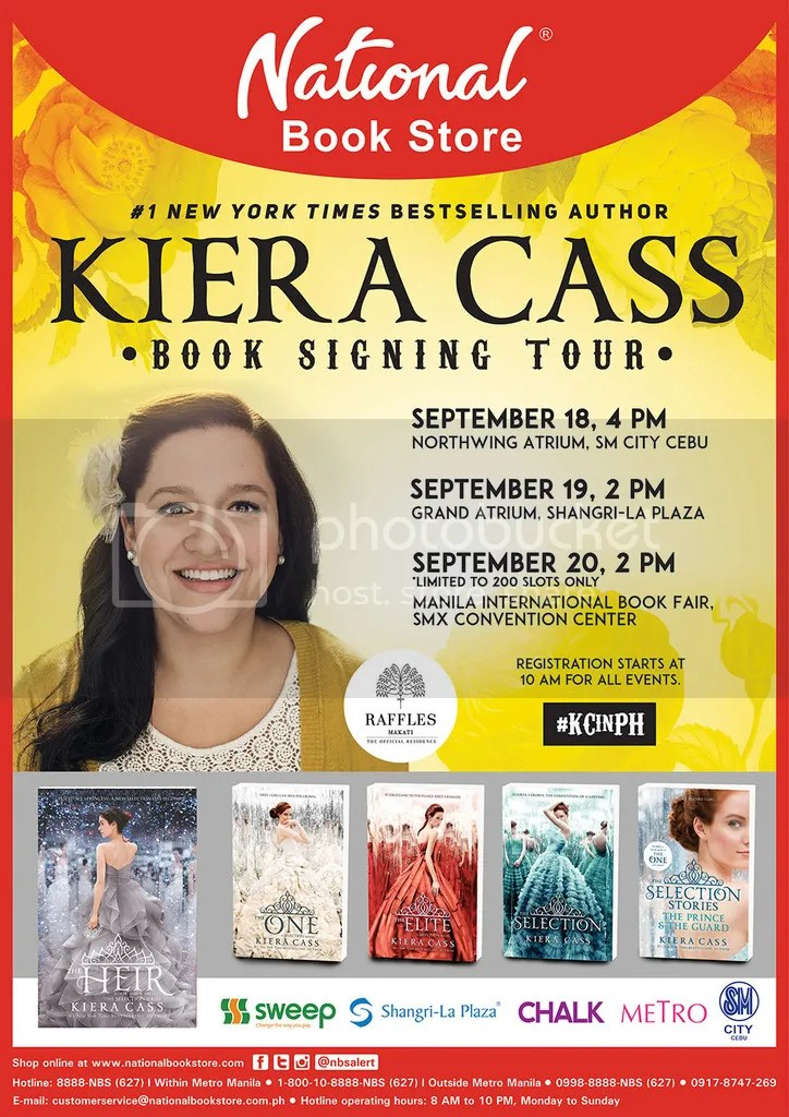 Keira Cass Has Already Been To The Philippines A Couple Of Years Back Also Sponsored By National Bookstore She Written Series Called Selection