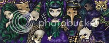 """""""Dark Mardi Gras"""" by Jasmine Becket-Griffith"""