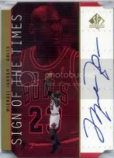 1998-99 Sp Authentic Michael Jordan Auto