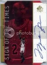 1998-99 Sp Authentic Michael Jordan Auto