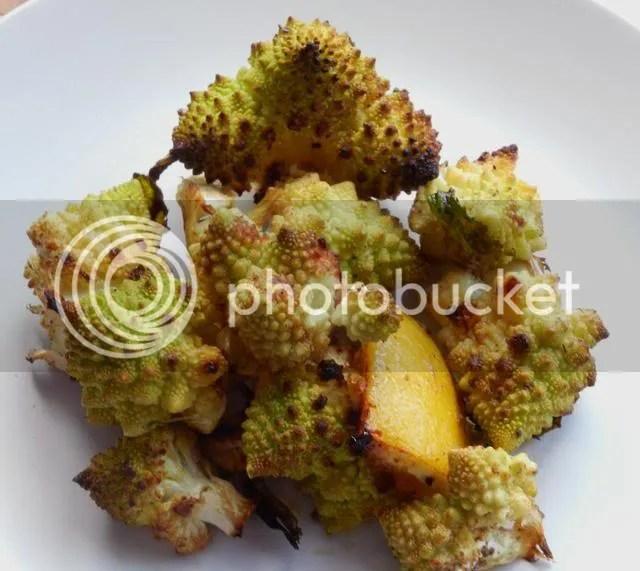 Roasted cauliflower with lemons